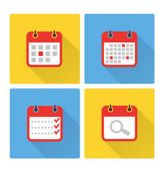 Calendar and to do list colorful flat icons vector