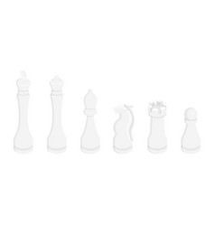 chess pieces figures vector image