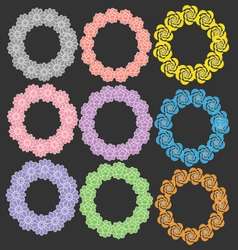 Circle with flower vector image