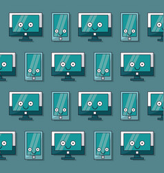 colorful background with pattern of lcd monitors vector image