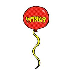 Comic cartoon party balloon vector