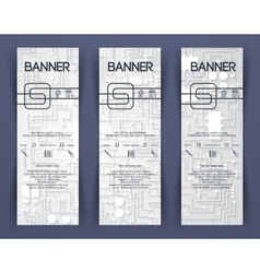 Corporate Identity Banner Template vector image
