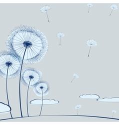 Dandelion background vector