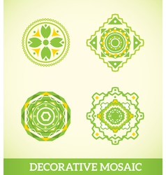 Decorative mosaic vector