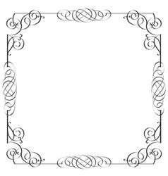 Delicate calligraphic frame vector