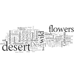 desert wild flower what are your choices vector image
