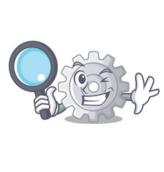 detective gear on style character shape funny vector image