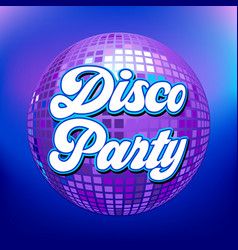 disco party background for poster or flyer vector image