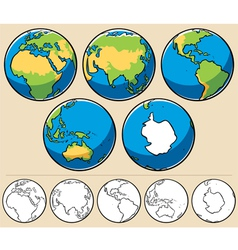 earth vector image vector image