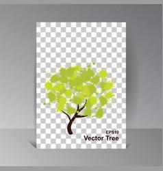 eco tech ecology design background vector image