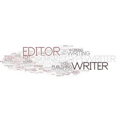 Editor word cloud concept vector