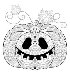 entangle stylized pumpkin for halloween vector image