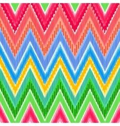 Ethnic zigzag vector image