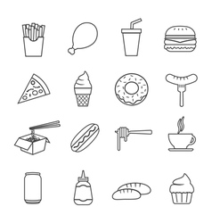 fast food line icon vector image