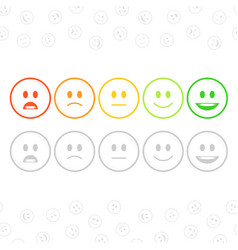 Feedback emoticon set vector