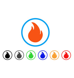 Fire rounded icon vector