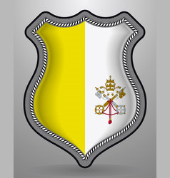 Flag of vatican city badge and icon vector