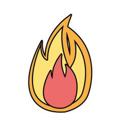 flame fire symbol cartoon vector image
