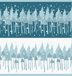 flat style christmas holiday seamless pattern vector image
