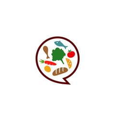 food talk bubble logo vector image