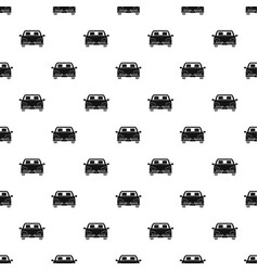 Front car pattern seamless vector