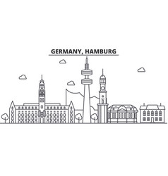 germany hamburg architecture line skyline vector image