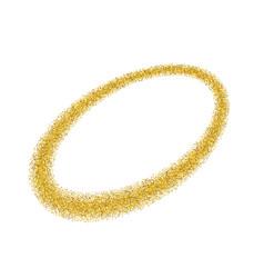 gold circle light glitter effect golden ring vector image