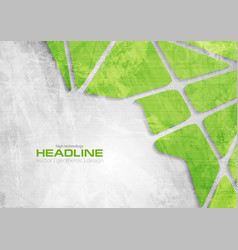 Green and grey tech grunge corporate background vector