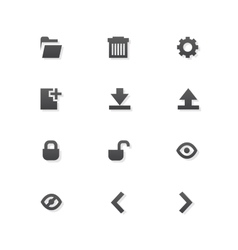 Grey web app graphic editor tools icons on white vector