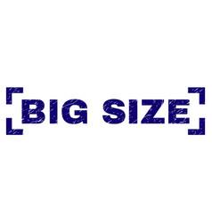 Grunge textured big size stamp seal inside corners vector