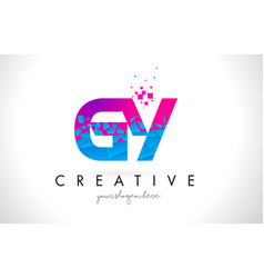 gy g y letter logo with shattered broken blue vector image
