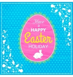 Happy Easter Typographical Background Easter vector image