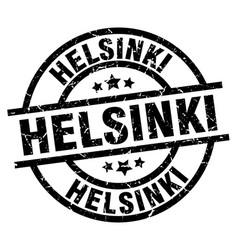 helsinki black round grunge stamp vector image