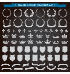 Heraldic Elements Set vector image