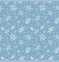 Holiday seamless background with frosty snowflakes vector
