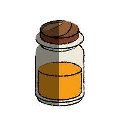 Honey bottle icon vector