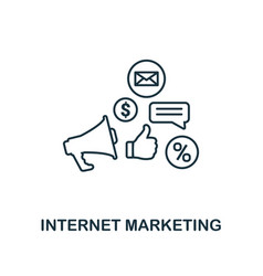 internet marketing icon thin line style symbol vector image