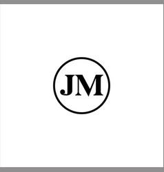 j m letter logo abstract design vector image