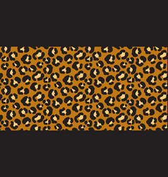 leopard wild print pattern with spots and hearts vector image