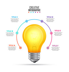 lightbulb infographic design template vector image
