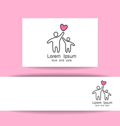 love care logo template vector image