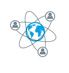 mankind and person conceptual logo unique symbol vector image