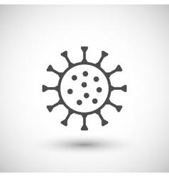 Microbe line icon vector image