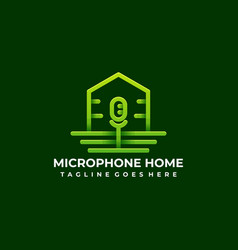 microphone home template vector image