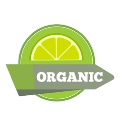 Organic natural fruit juice label template vector