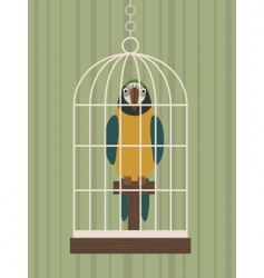 Parrot in cage vector