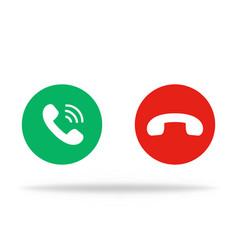 Phone icon in retro style in round button green vector