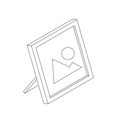 Photo frame icon isometric 3d style vector image