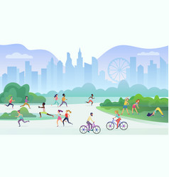 physical sport outdoors activity in city public vector image