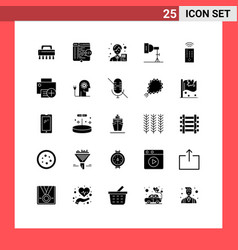 Pictogram set 25 simple solid glyphs of vector